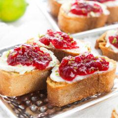 Easy Cranberry Crostini