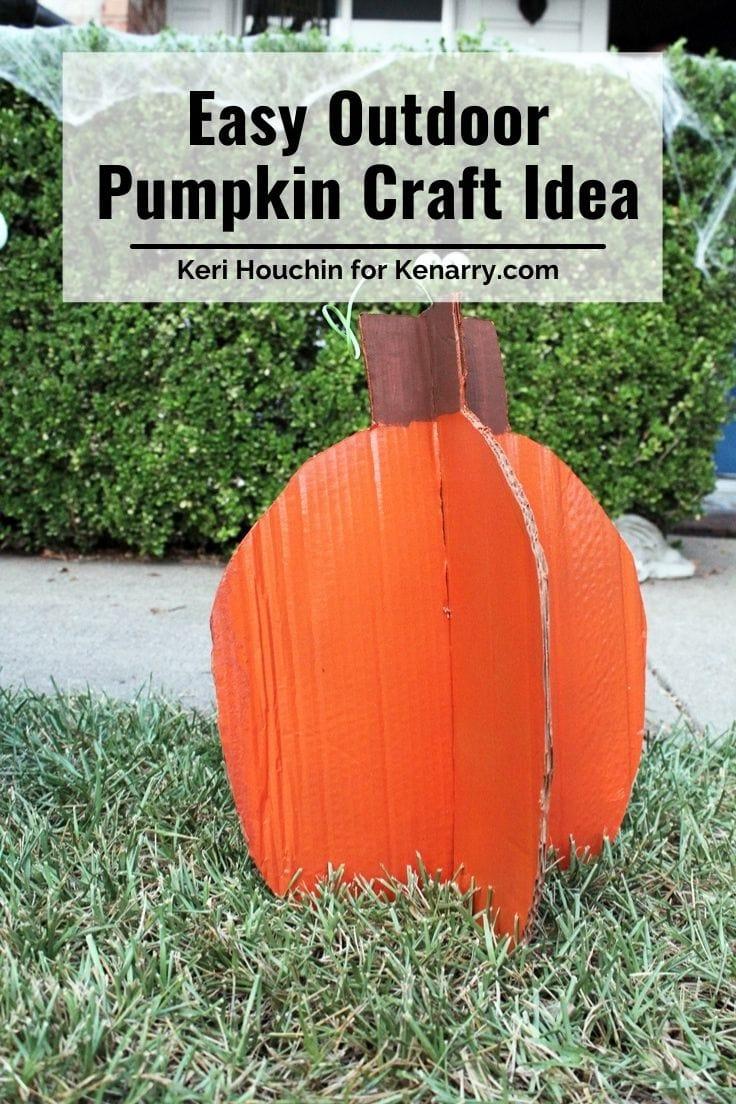 Easy outdoor pumpkin craft idea.