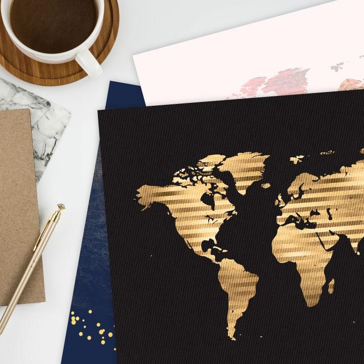 Printable World Map Wall Art